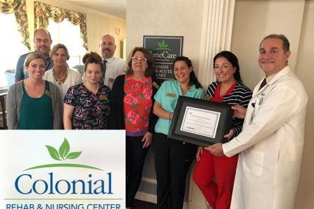 Vohra Certifies Colonial Rehabilitation & Nursing Center