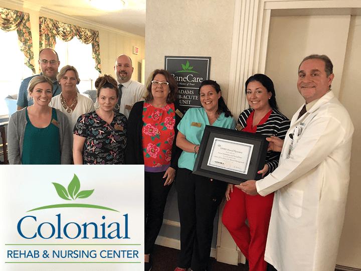Vohra Certifies Colonial Rehabilitation & Nursing Center