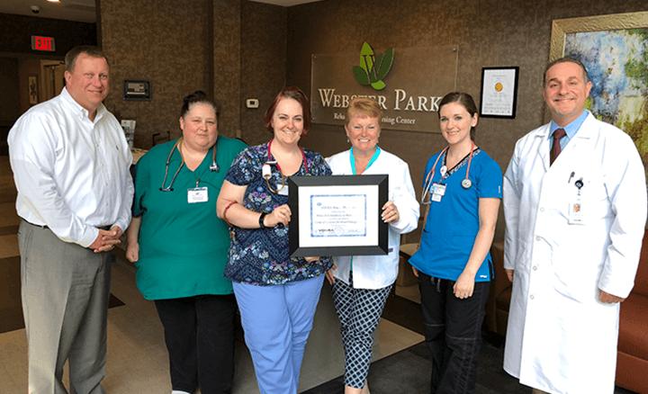 Vohra Certifies Webster Park Rehabilitation and Healthcare Center