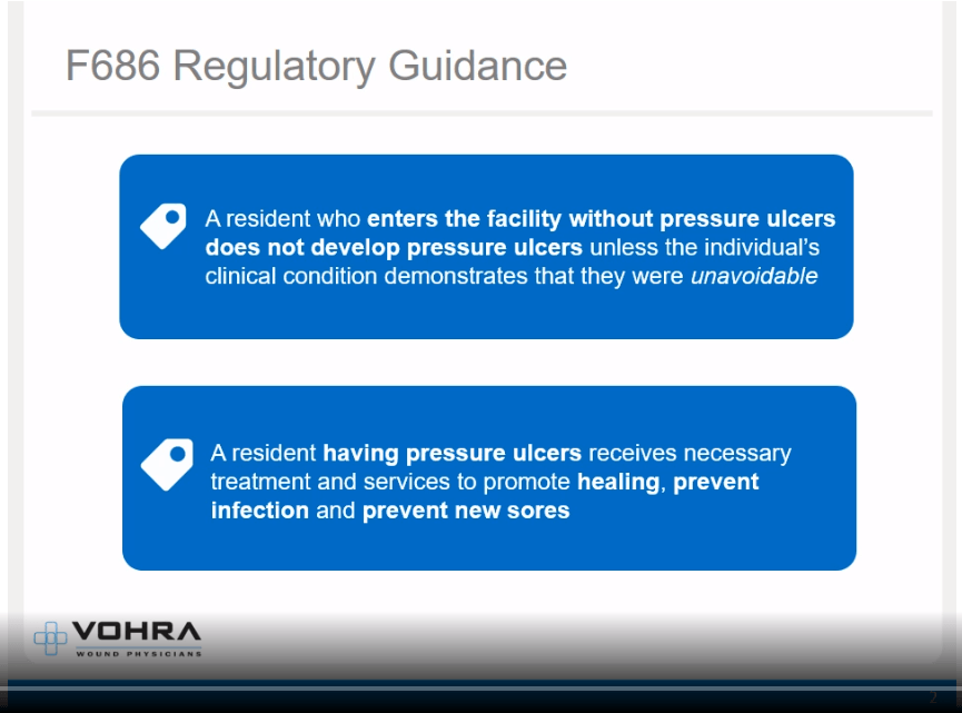 F686 Pressure Ulcers Regulatory Guidelines Slide