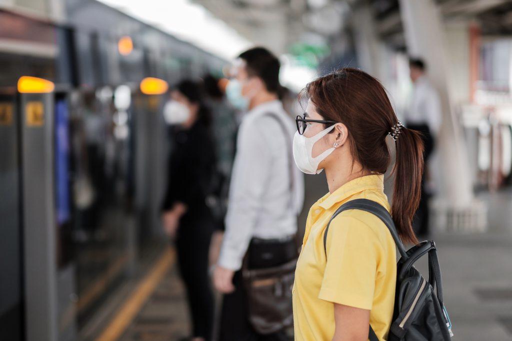 Asian woman wearing protection mask against Novel coronavirus.