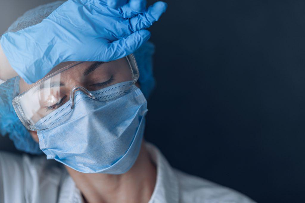 tired medical worker doctor