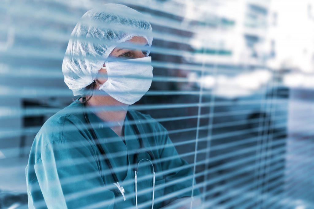 Nurse wearing medical mask