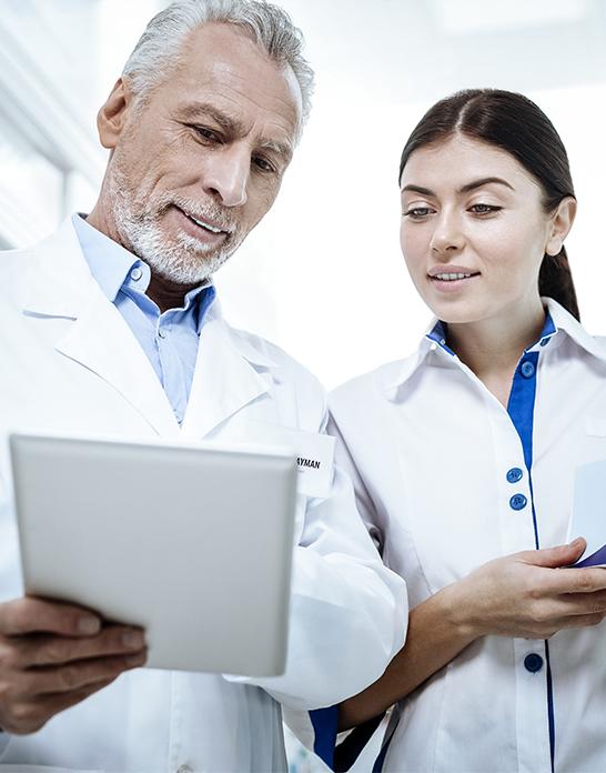 nurse & physician communicating