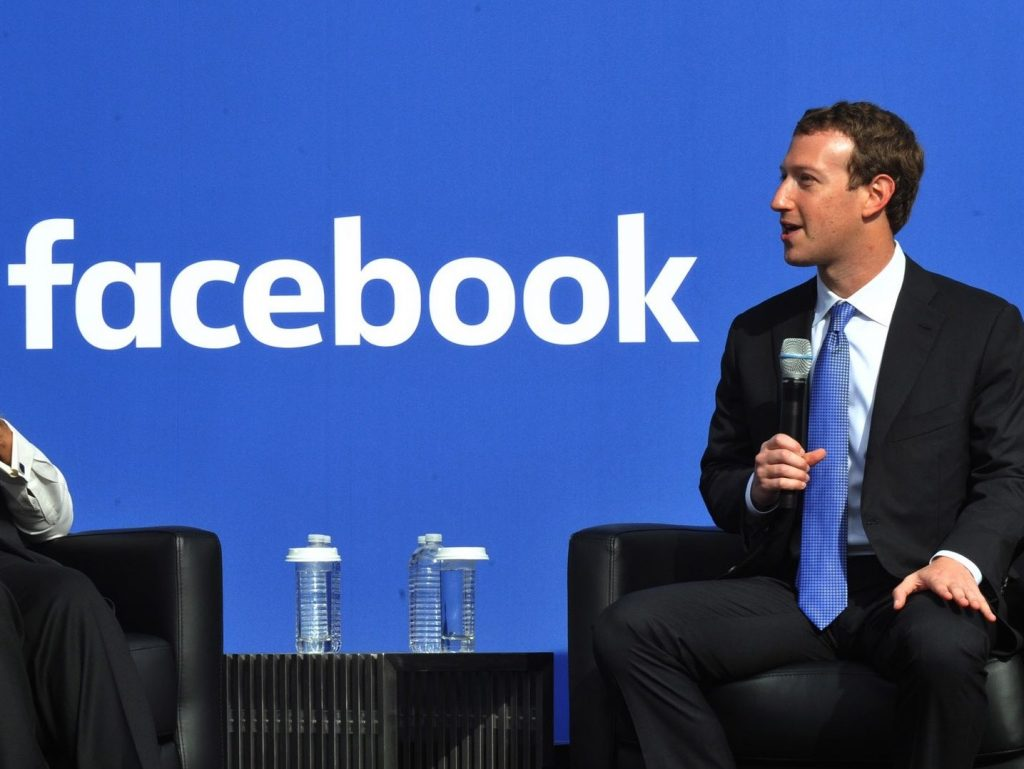 The Facebook Chairman and CEO, Mr. Mark Zuckerberg at Townhall