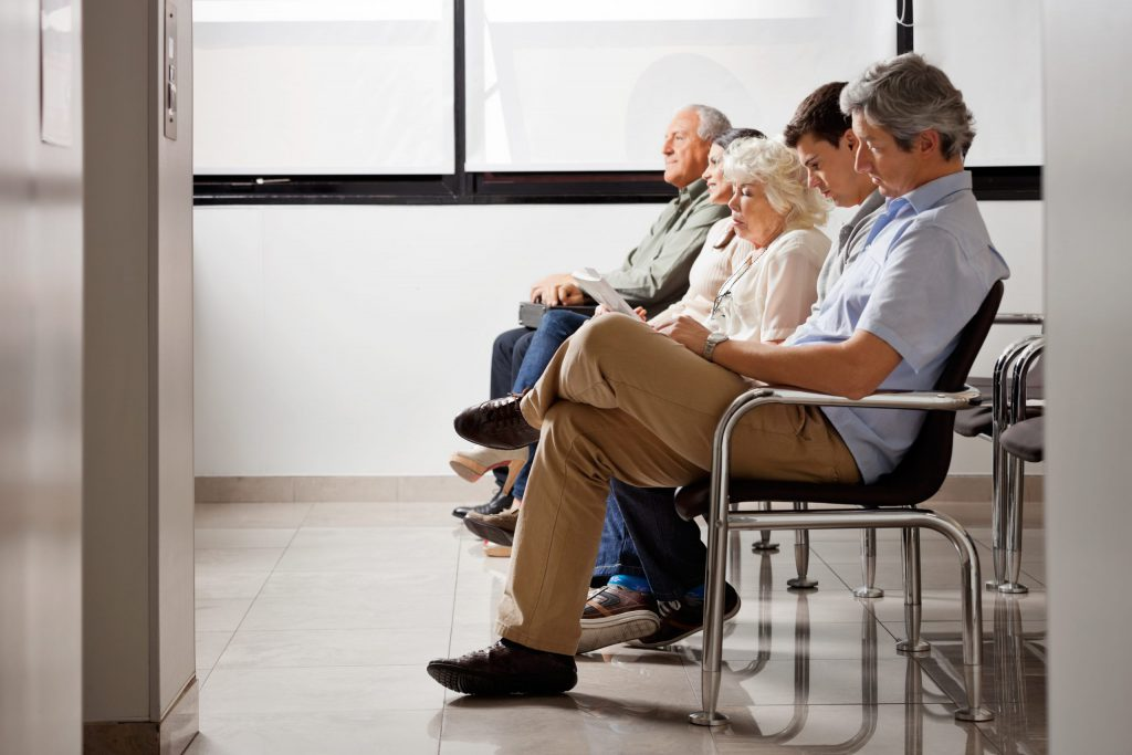 Patients Sitting and Waiting Appointment Time