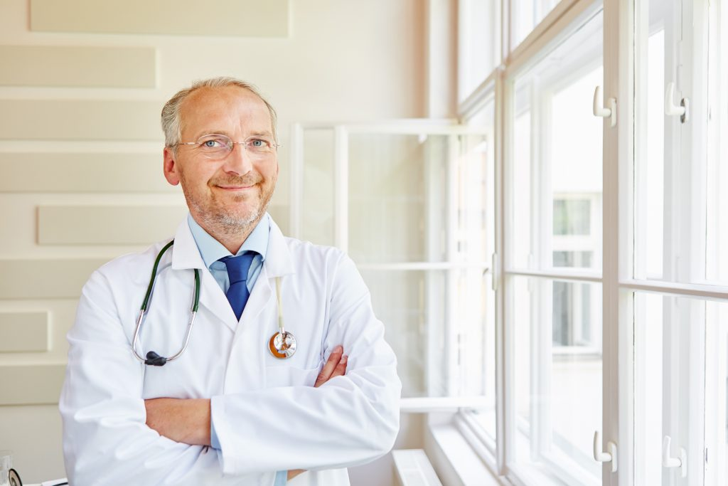 Physician with Smiling face
