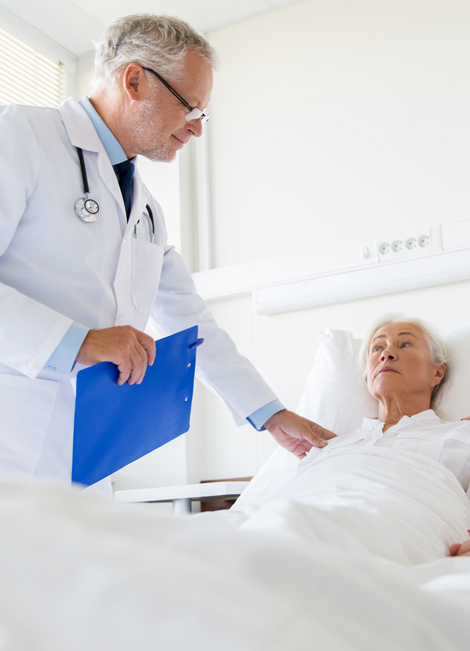 Physician Taking Care of Patient