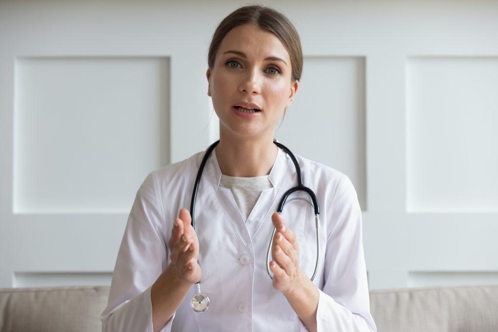 Female Doctor Talking