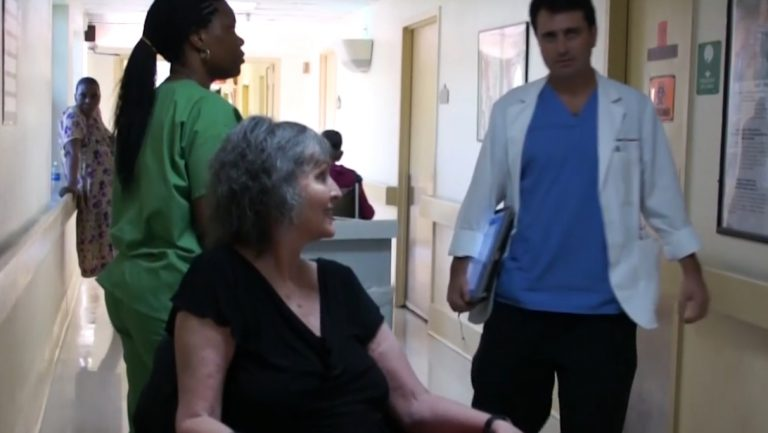 nurse with patient in hospital